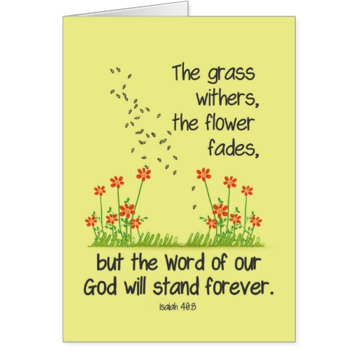 Isaiah 40:8 Greeting card