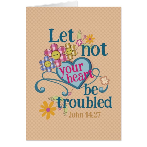 John 14:27 Greeting card