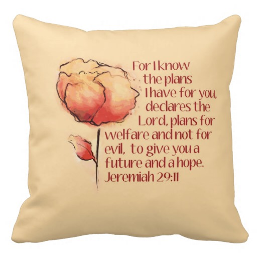 Jeremiah 29:11 Couch Pillow
