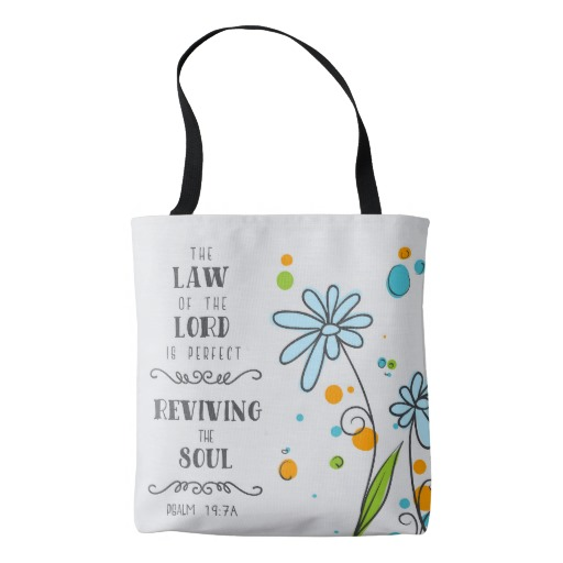 Psalm 19:7a Tote bag