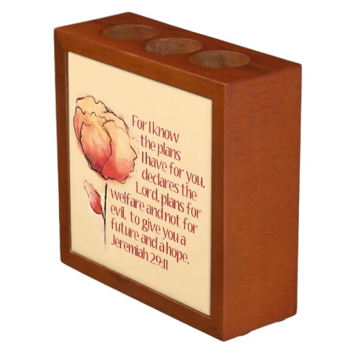Jeremiah 29:11 Desktop Pen Holder