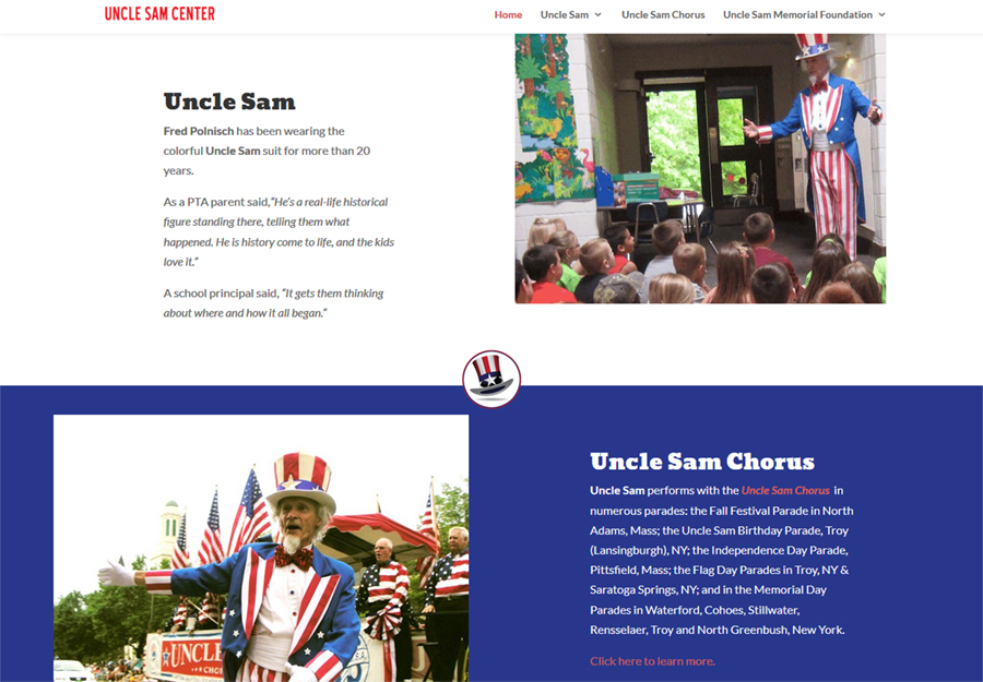 Uncle Sam's website